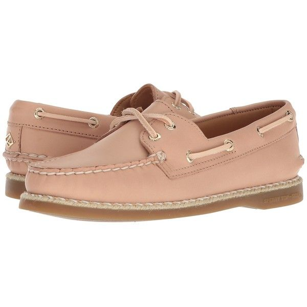 Sperry A/O 2-Eye Braided Jute Welt (Nude) Women's Shoes ($160) ❤ liked on Polyvore featuring shoes, adjustable shoes, traction shoes, cushioned shoes, nautical shoes and welt footwear