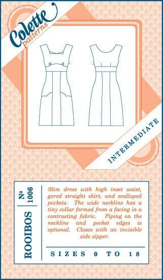 Colette Patterns Rooibos Dress 1006