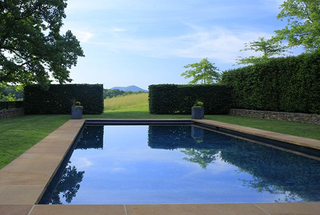 pool and hedge  Rock Ford Farm - Arentz Landscape Architects