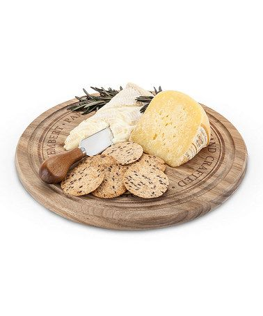 Loving this Round Rustic Farmhouse Cheese Board & Knife on #zulily! #zulilyfinds