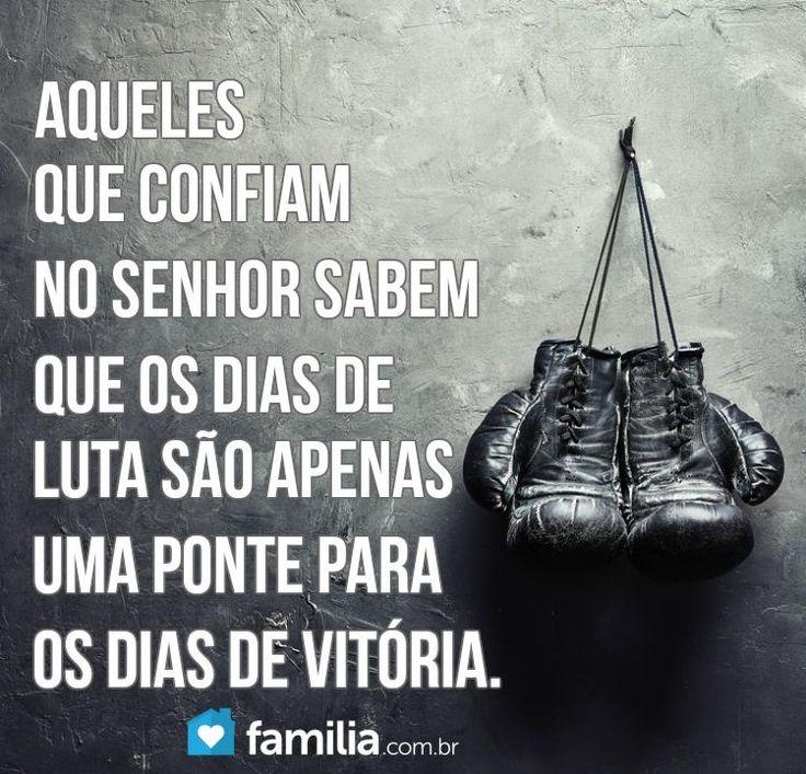 Aqueles que confiam no Senhor sabem que os dias de luta são apenas uma ponte para os dias de vitória.