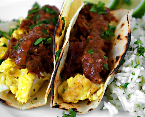 At Honest Cooking we absolutely love ourselves a good breakfast taco, and Bria Helgerson's pork carnitas tacos are no exception.