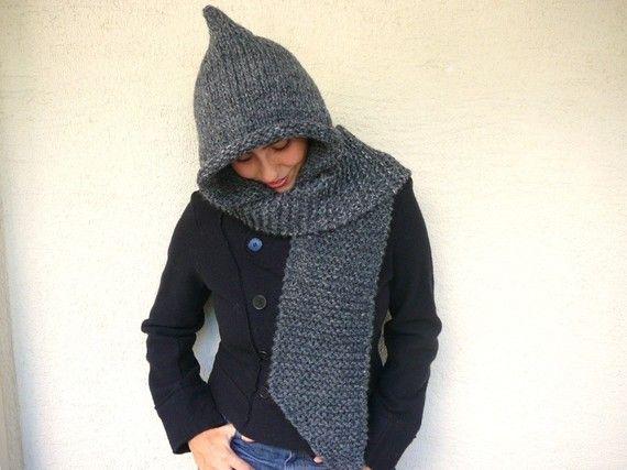 hood scarf...