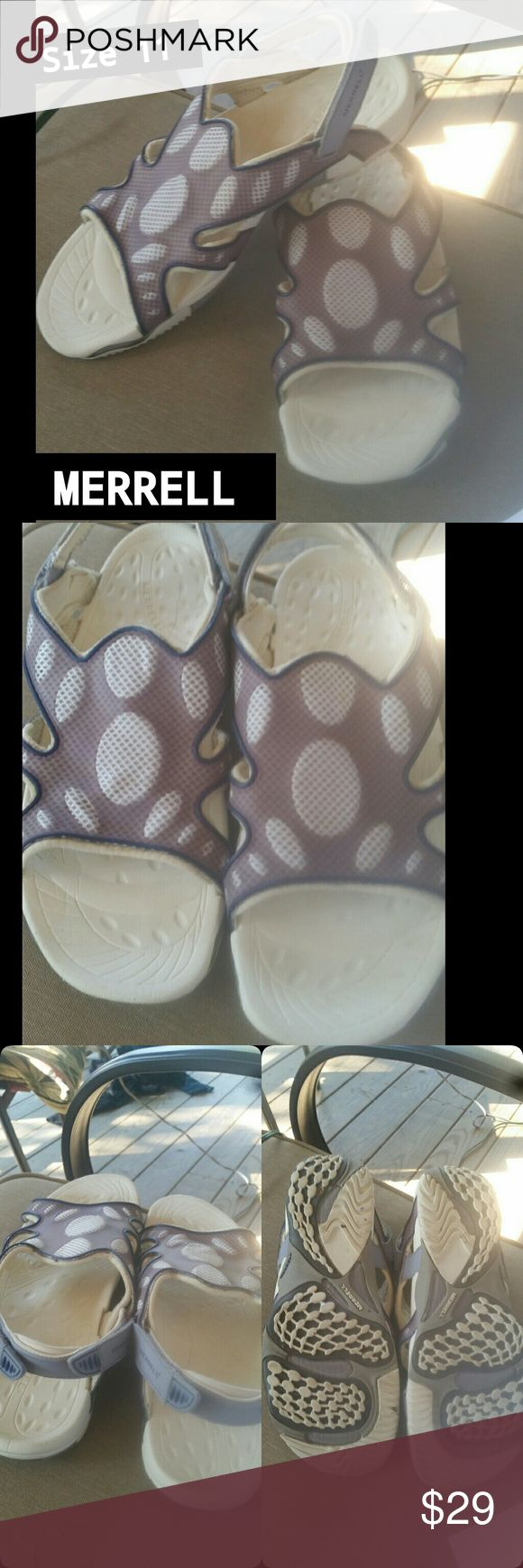 Merrell Sandals! So cute!! Size 11 and the most comfortable shoes ever! See pics for details! Merrell Shoes