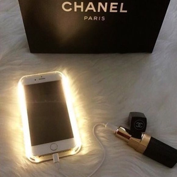 Chanel Power Bank This is the coolest and prettiest phone charger! Works for iPhones including the newest 6 amd 6 plus. Also androids and most all cell phones. All you do is connect the included usb cable. No trades no offers please. I give discounts on bundles CHANEL Accessories Phone Cases