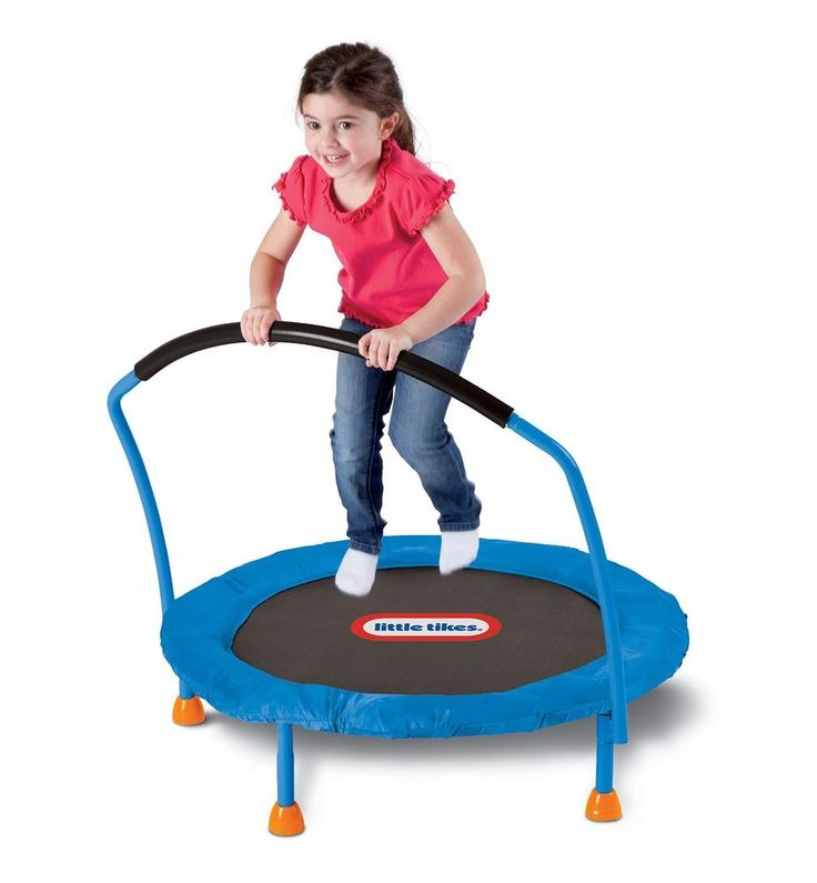 Trampoline Little Tikes 3 Kids Indoor Toddler New Fun Mini Metal Feet Plastic  #LittleTikes