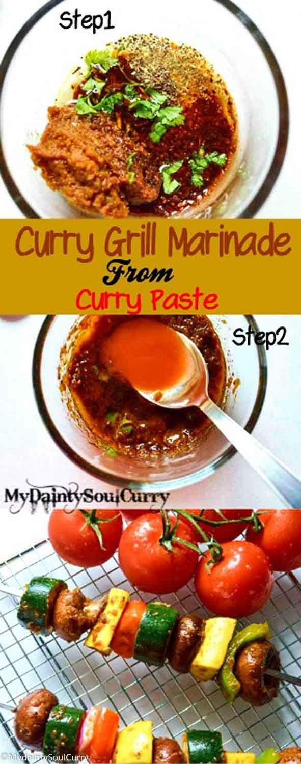 Easy curry balsamic marinade from curry paste #easy #marinade #vegan