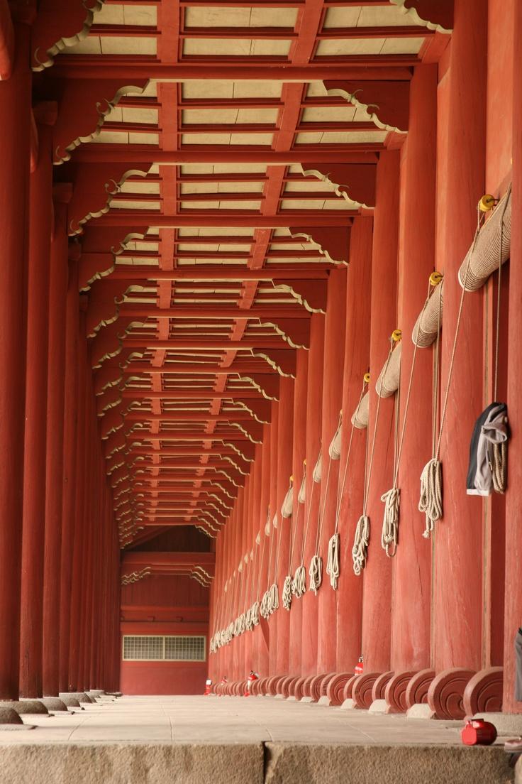 Sanctuaire confucéen de Jongmyo (종묘) dédié aux membres de la famille royale de la dynastie Chosŏn, à Séoul — octobre 2010