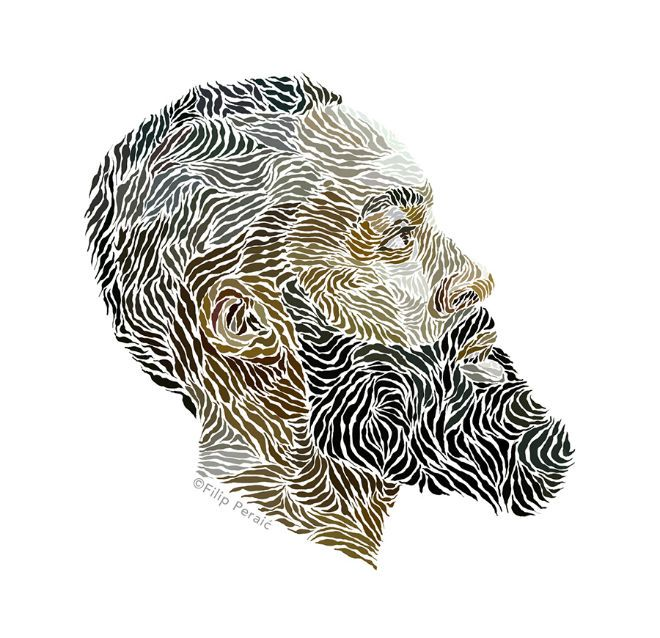 James Harden ilustracion barba