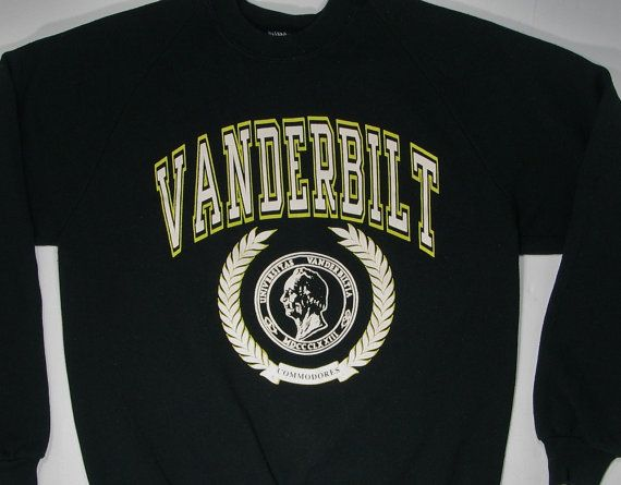 80s Vanderbilt University Sweatshirt by JaybrrdsWhatnots on Etsy