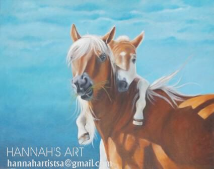 Artist: HANNAH, Kolette's horses. Oil on Canvas, SOLD