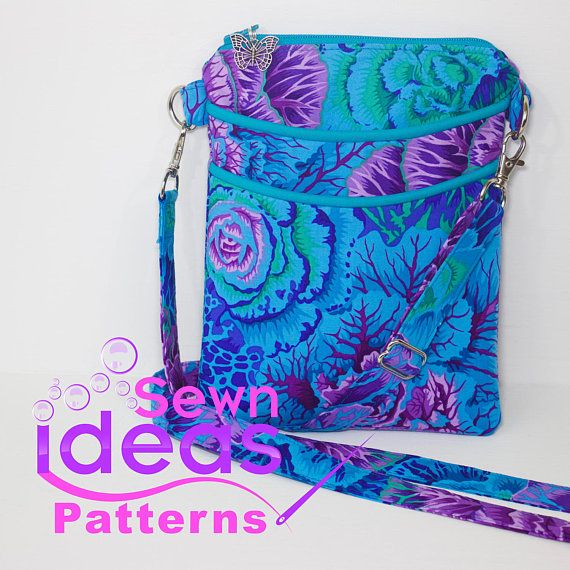 This is a PDF SEWING PATTERN - READY TO DOWNLOAD -NOT a finished item   YOU ARE MORE THAN WELCOME TO SELL FINISHED ITEMS MADE BY YOU, USING THIS PATTERN.   Easy access cross-body bag - READY TO DOWNLOAD  The Easy access cross-body bag is the perfect size for everyday use, to hold all the essentials.  Two slip pockets on the front for quick and easy access, along with a zippered main compartment to keep it all organized.  Makes great gifts for women of all ages.  Fully lined with no exposed…
