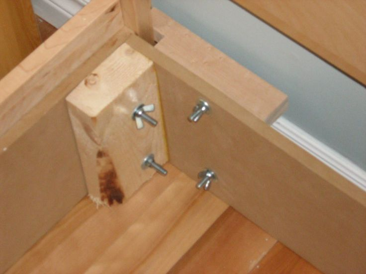 1000 ideas about bed frame plans on pinterest log bed frame bed frames and floating bed frame - How to make a simple platform bed ...