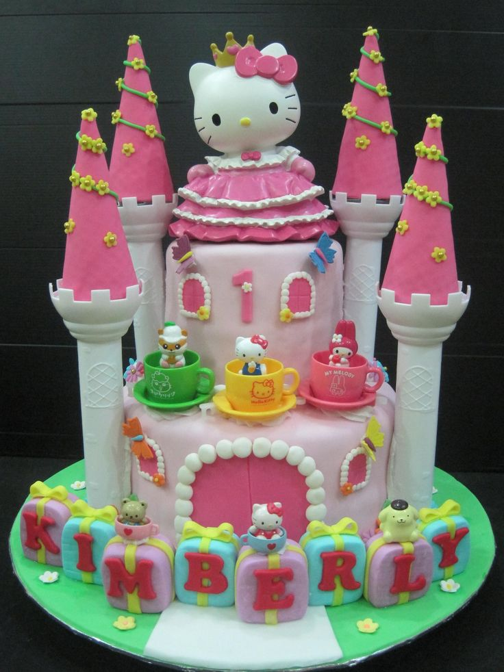 Hello Kitty Cake – 30 Cute Hello Kitty Cake Ideas and Designs Images. So far this one is the top favorite                                                                                                                                                      More