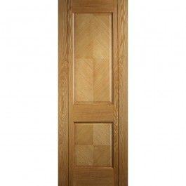 Deanta Internal Kensington Oak Veneer 2 Panel Prefinished Door