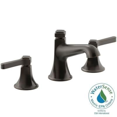 KOHLER Georgeson 8 in. Widespread 2-Handle Bathroom Faucet in Oil Rubbed Bronze-K-R99911-4D-2BZ - The Home Depot