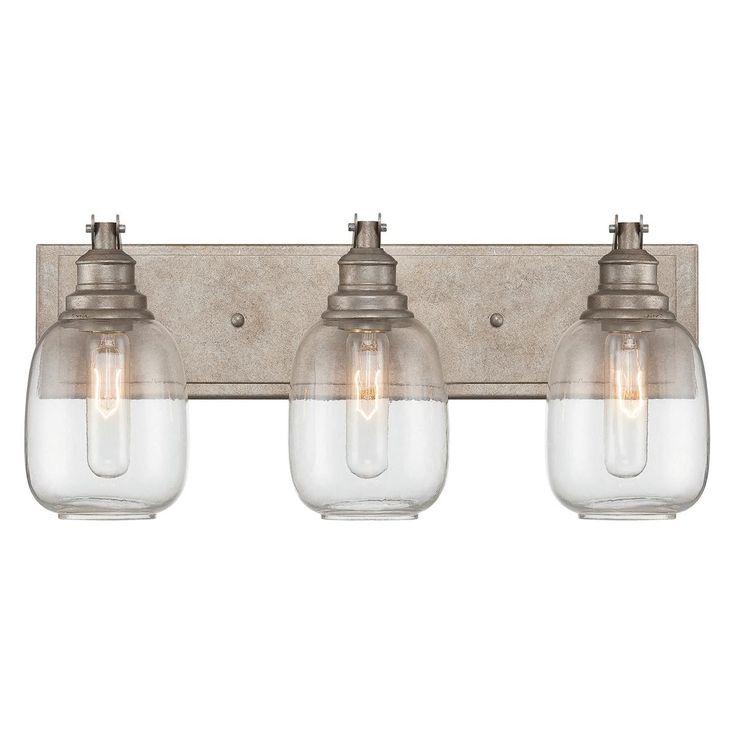 Industrial Steel Bath Light 3 Light