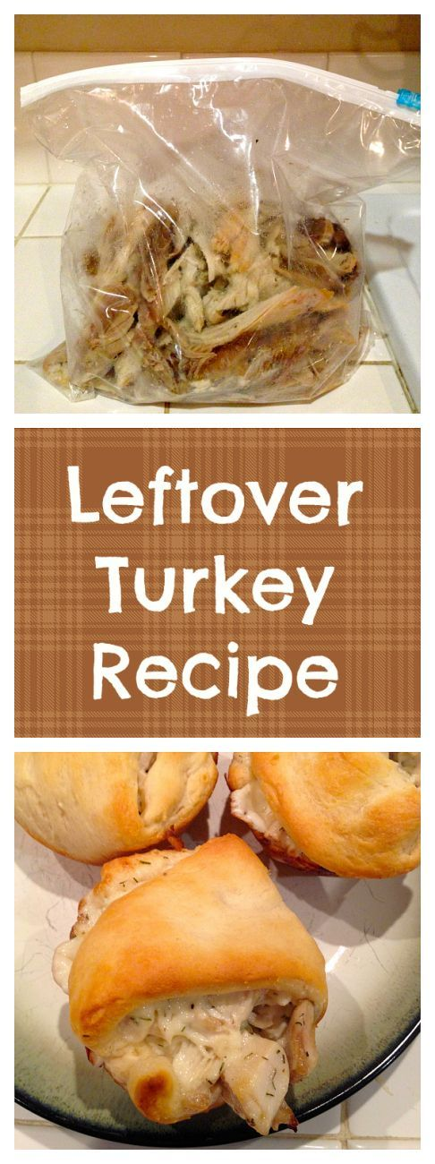 """This is the best leftover turkey recipe you will ever find! Super easy and everyone will love these turkey """"dumplings"""", even your kids! Use for ham too."""