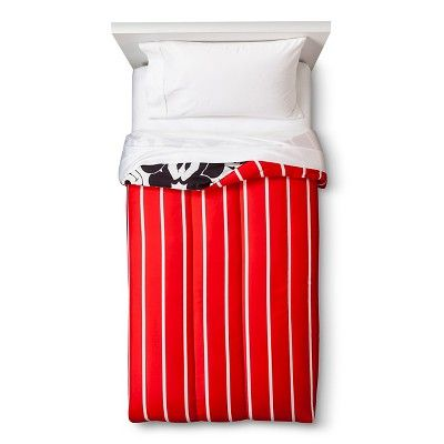 Disney Mickey Mouse Faces Comforter - Red/White (Twin)