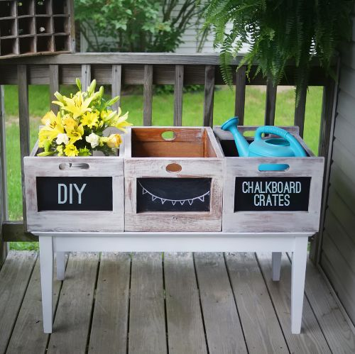 Beautiful Chalkboard {Wood Crates} for {Storage, Organization & Decor}