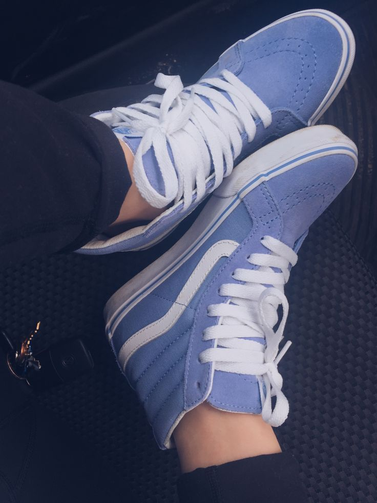 Hightop Old Skool Vans - Blue