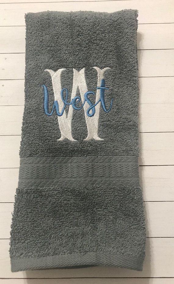 Personalized Hand Towel Set-Bath Hand Towels-Monogram Hand Towels