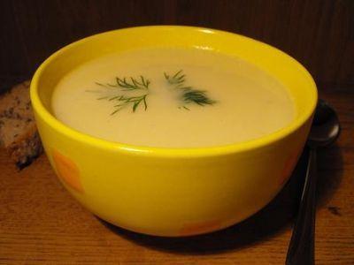 Сливочный суп-пюре из корня сельдерея :