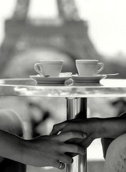 Romance in Paris. Could see this with the love of my life having coffee outside and enjoying the French atmosphere!