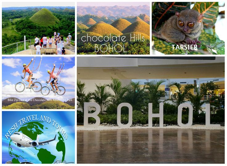 Bohol is a province of the Philippines, in the country's Central Visayas region. It comprises Bohol Island and numerous smaller surrounding islands. Bohol is known for coral reefs and unusual geological formations, notably the Chocolate Hills. On the main island, near the town of Carmen, these 1,200 or so symmetrical mounds turn cocoa-brown in the dry season, contrasting with the surrounding jungle's greenery.