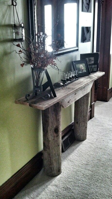 34 best Rustic hallway tables images on Pinterest Hallway tables