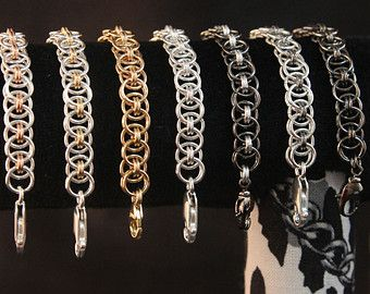 Helm Chain Chainmaille Bracelet for Fitbit Flex