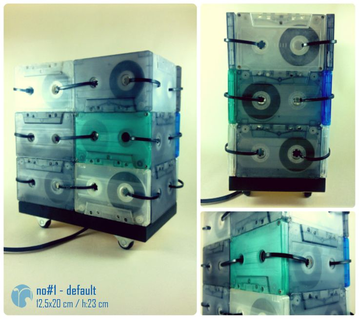 no#1 - default / kaset lamba / cassette lamp / aydınlatma / lighting