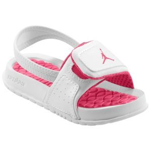 Jordan Hydro II - Girls' Toddler - Casual - Shoes - White/Pink $27.99. I want these for Jaylynn!!!