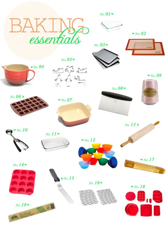 Baking sweet goodness cannot be done without a handful of fun tools!