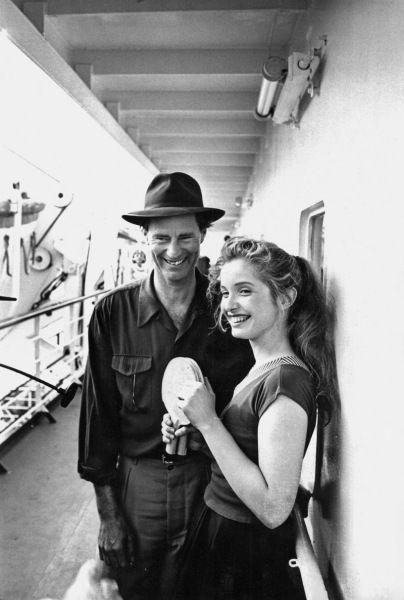 """Sam Shepard und Julie Delpy am Set von """"Homo Faber"""" (1991)"""