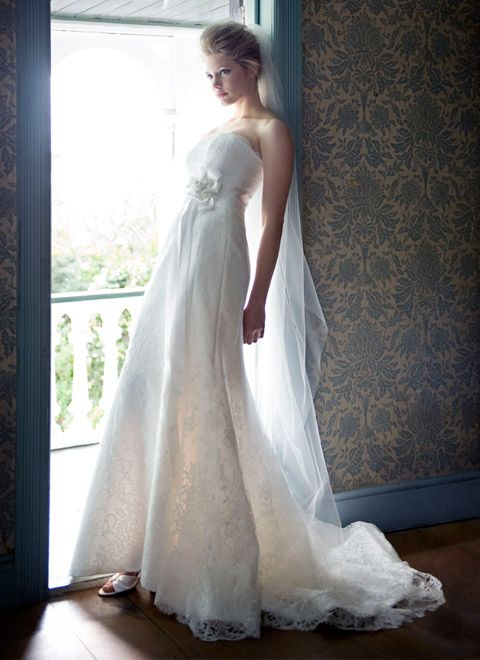 Panelled Wedding Dress :: White Bridal Collection