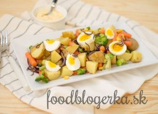 Light zemiakový šalát s vajíčkom