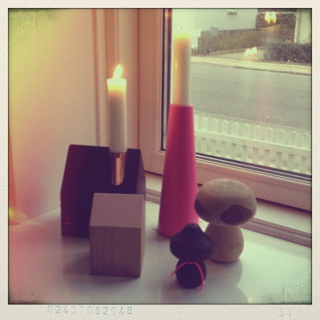 Window decoration with cobber, black, pastel and neon pink...