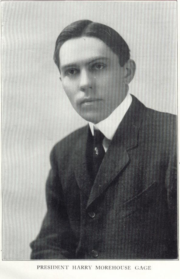 Harry M. Gage, President of Coe College in 1923