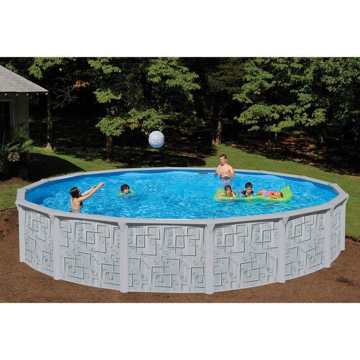 "Swimming Pool Set Above Ground 24' x 52"" Steel Wall Family Pool Summer Fun NEW #AboveGroundSwimmingPools"