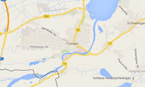 Hotels in Füssen - Travel Information and Town Map