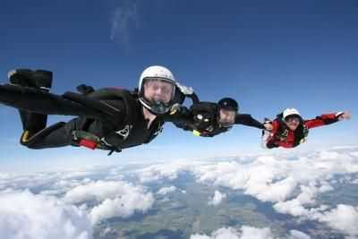 1. Terminal Velocity 2. When skydiving, the terminal velocity is reached after a certain distance. The terminal velocity for humans is around 53 m/s, however that is changed based on the mass of the person. 3. Terminal Velocity = square root of (2*g*h)