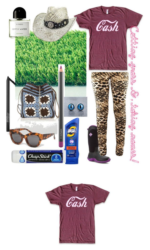 """Cutting grass & taking names!"" by angelanegron on Polyvore featuring The Original Muck Boot Company, Coppertone, Chapstick, Cheap Monday, Smashbox, MAC Cosmetics, Miu Miu and Byredo"