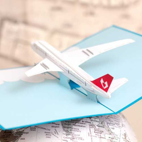 Airplane Pilot Gift Ideas - Three-Dimensional Airplane Card for an Aviation Gift. #pilots #airplanes #birthdaycards #pilot #aviation #aviator