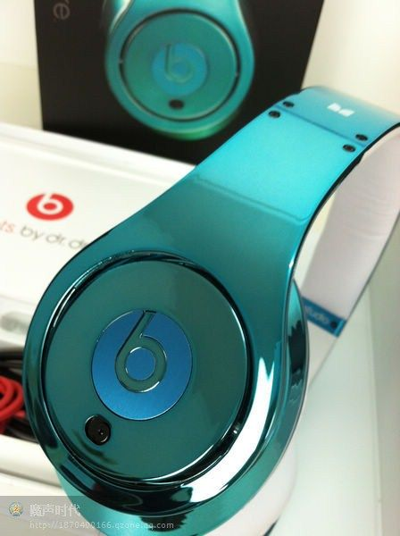 Monster Beats By Dr Dre Colorware Chrome Studio Headphone in Dark Blue
