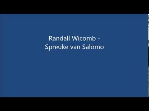 "Randall Wicomb ~ ""Spreuke van Salomo"" ~ YouTube"