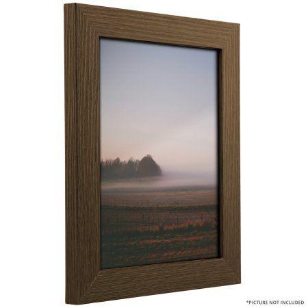 Craig Frames Bauhaus 125, Modern Brown Oak Picture Frame, 8.5x11 Inch