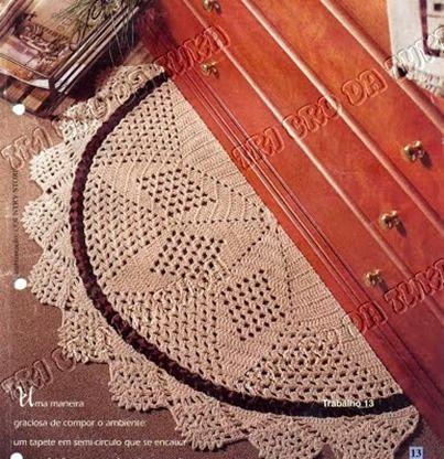 half moon crochet rug chart