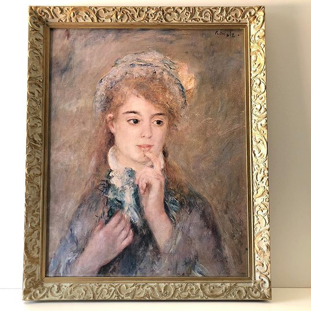 Original Master Impressionist paintings maybe out of reach for most of us! However enjoy the beauty of a Renoir with this Vintage Print in original frame The Ingenue Currently in our Prints Gallery.  https://ift.tt/2sEmVZq  #vintageprints #vintageframes #renoir #coloursofimpressionism #vintageart #impressionism #frenchartists #frenchartist #gallerywall #portraits #artshop #artonline #prints #vintageartemporium