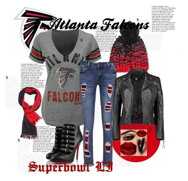 """Atlanta Falcons Superbowl LI '17"" by valdezrachely ❤ liked on Polyvore featuring G-III, Christian Louboutin, YM by Yakshi Malhotra, Joe Browns, Boohoo and Slater Zorn"